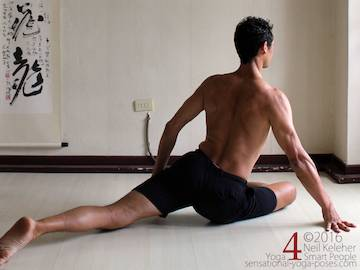 basic yoga sequence for flexibility,  pigeon pose hip flexor stretch.