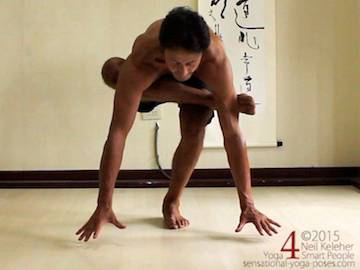 galavasana arm balance step by step 1