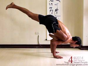 galavasana arm balance step by step 3