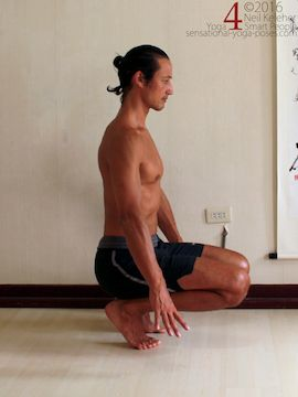 improving balance while kneeling and balancing on the fronts of the feet