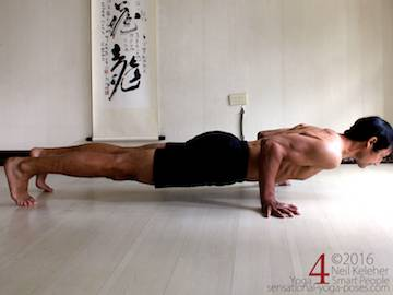 Prone Yoga Poses, Chaturanga dandasana Neil Keleher, Sensational Yoga Poses
