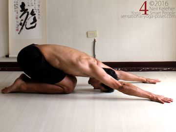 Prone Yoga Poses, kneeling prone resting pose, Neil Keleher, Sensational Yoga Poses