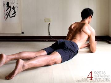 Prone Yoga Poses, sphinx pose, Neil Keleher, Sensational Yoga Poses
