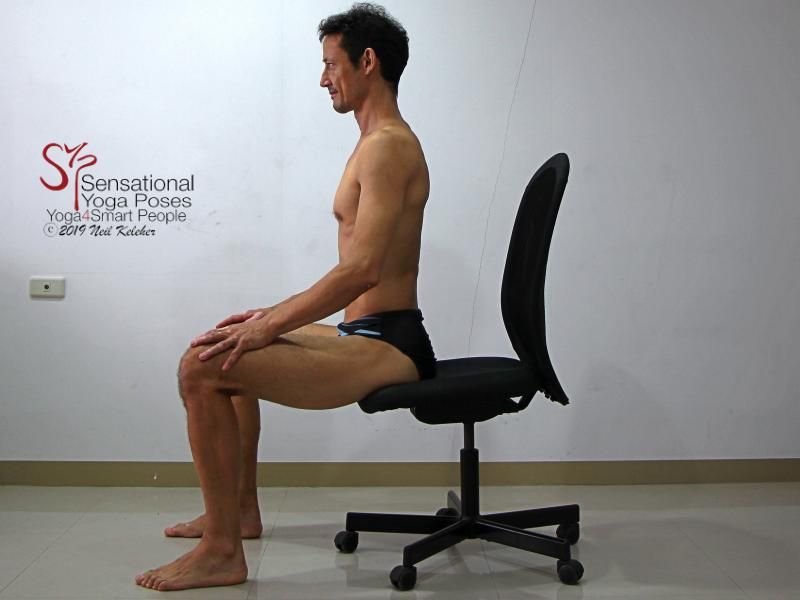 Seated Lumbar Backbend 1. Sit with your pelvis neutral so that lumbar spine feels relaxed. Neil Keleher, sensational yoga poses.