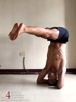 Balancing in bound headstand. Neil Keleher. Sensational Yoga Poses.