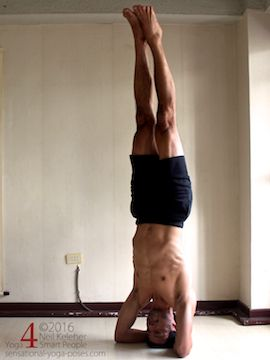balancing in bound headstand, neil keleher, sensational yoga poses