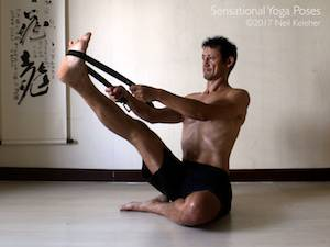 Seated Hamstring Stretch,  Neil Keleher, Sensational Yoga Poses.