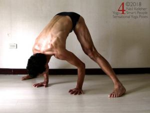 Wide Leg Standing Forward Bend. Model Neil Keleher, Sensational Yoga Poses.