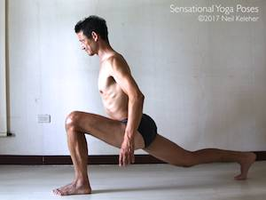 High Lunge,  Neil Keleher, Sensational Yoga Poses.