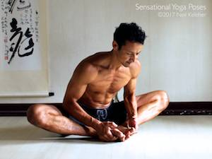 Bound Angle Pose,  Neil Keleher, Sensational Yoga Poses.