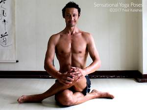 Iliotibial Band Stretch,  Neil Keleher, Sensational Yoga Poses.