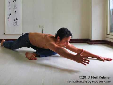 Low Pigeon pose,  Neil Keleher, Sensational Yoga Poses.