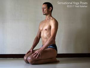 Kneeling Quadriceps Stretch,  Neil Keleher, Sensational Yoga Poses.