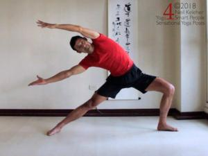 Dancing warrior yoga pose. Neil Keleher, Sensational Yoga Poses.