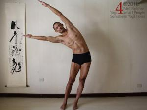 Standing Side Bend and side stretch, Neil Keleher, Sensational Yoga Poses.