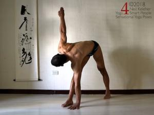 Revolving Triangle (privrtta trikonasana). Neil Keleher, Sensational Yoga Poses.