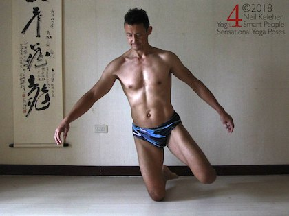 Knee balance. This is one exercise that you can use to learn how to balance. Neil Keleher. Sensational Yoga Poses.