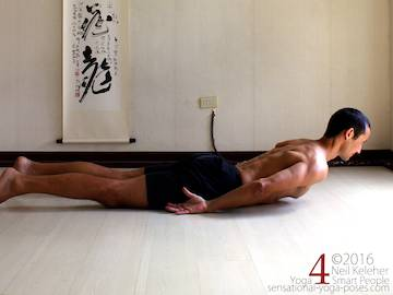 Prone Yoga Poses, locust pose, Neil Keleher, Sensational Yoga Poses
