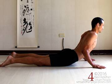 Prone Yoga Poses, cobra pose,  Neil Keleher, Sensational Yoga Poses