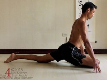 pigeon yoga pose and hip stability as a prep for galavasana 2