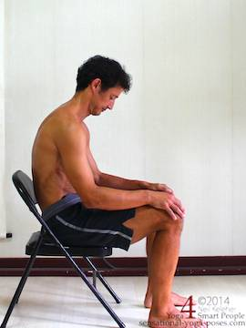 slouched while sitting with forward head posture