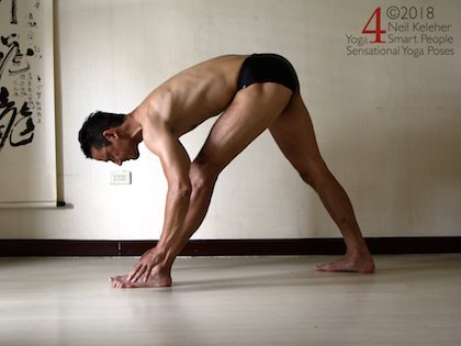 Pyramid pose with hands on the floor. Neil Keleher, Sensational Yoga Poses