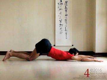 Prone Yoga Poses, puppy dog chest stretch 3, Neil Keleher, Sensational Yoga Poses
