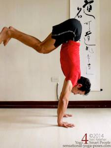 moving into handstand