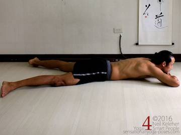 Prone Yoga Poses, prone resting pose, Neil Keleher, Sensational Yoga Poses