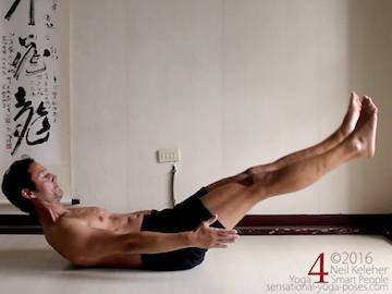 Supine Yoga poses, rolling sit up,  neil keleher, sensational yoga poses.