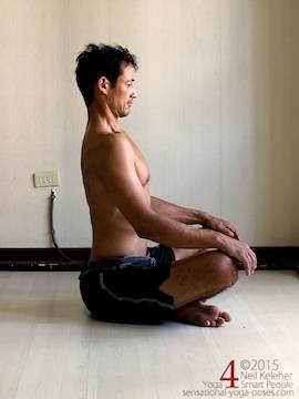 seated spinal back bend. Neil Keleher. Sensational Yoga Poses.