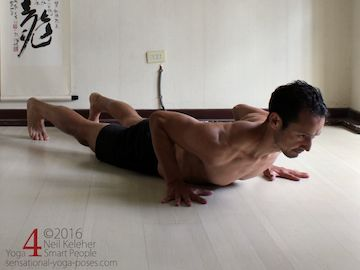 Prone Yoga Poses, yoga push up, Neil Keleher, Sensational Yoga Poses