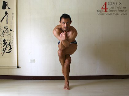 Eagle standing yoga pose. Neil Keleher, Sensational Yoga Poses
