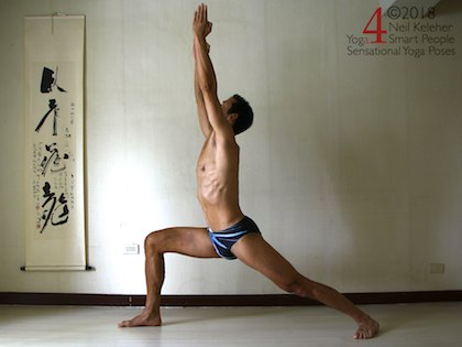 Warrior 1 Yoga Pose. Neil Keleher, Sensational Yoga Poses.